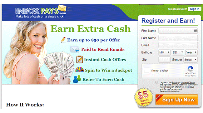 InboxPays Review Homepage