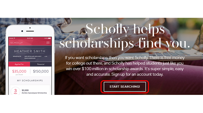 scholly reviews homepage